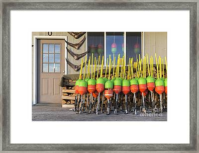 Lobster Buoys Kittery Maine Framed Print by Edward Fielding