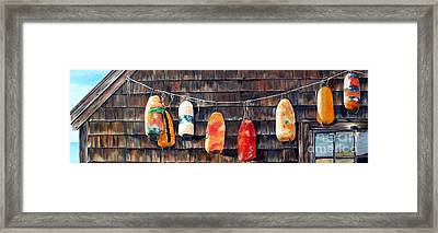 Lobster Buoys, Nova Scotia Framed Print