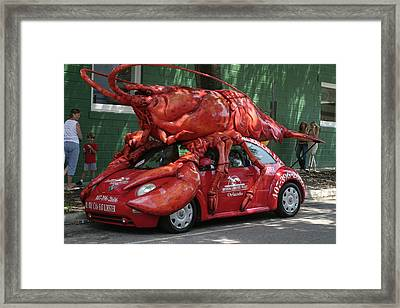 Lobster Car Framed Print by Carl Purcell
