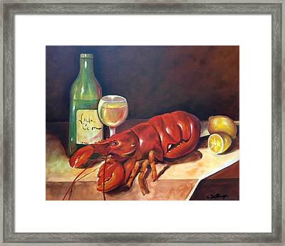 Framed Print featuring the painting Lobster Fest  by Susan Dehlinger