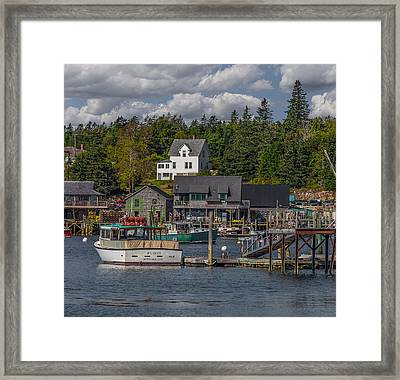 Lobster Fishing Boats Framed Print by Capt Gerry Hare