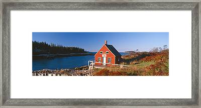 Lobster House In Autumn, Stonington Framed Print by Panoramic Images