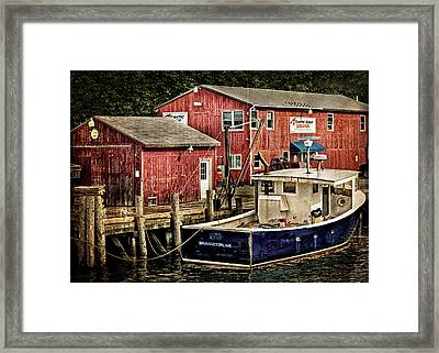 Lobster Market In Boothbay Harbor Framed Print