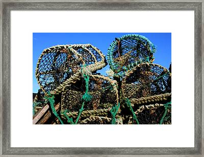Lobster Pots Framed Print by Aidan Moran