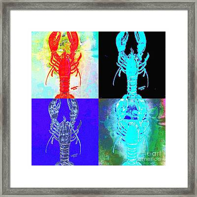 Lobster Quilt Framed Print by Scott D Van Osdol