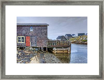 Lobster Shack - Peggy's Cove Framed Print