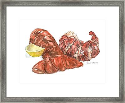 Lobster Tail And Meat Framed Print
