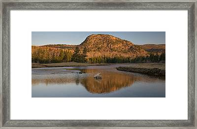 Lobster Trap And Mountain Framed Print by Darylann Leonard Photography