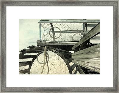 Lobster Traps Framed Print by Frank Townsley