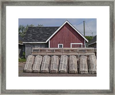 Lobster Traps Prince Edward Island Framed Print by Edward Fielding