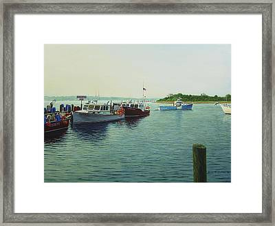 Lobsters And Crabs Framed Print by Bruce Dumas