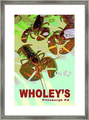 Lobsters Framed Print by Eclectic Art Photos