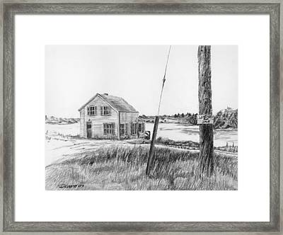 Lobsters For Sale Framed Print by Dominic White