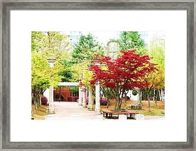 Local Greenery 4 Framed Print by Michael C Crane