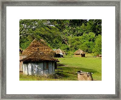 Local Huts Framed Print