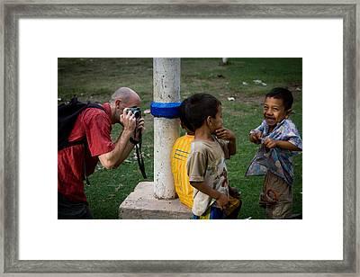 Local Kids Framed Print