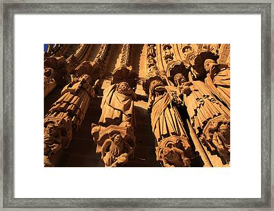 Local Saints At The Western Entrance Framed Print by Aidan Moran