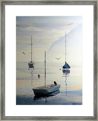 Locarno Boats In February Framed Print