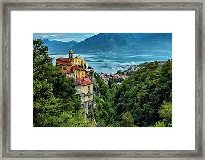 Framed Print featuring the photograph Locarno Overview by Alan Toepfer