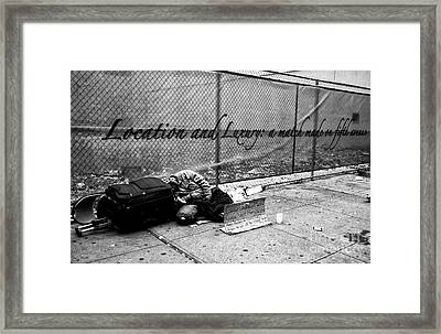 Location And Luxury Framed Print