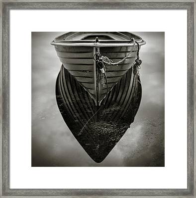 Boat Reflection Framed Print by Dave Bowman