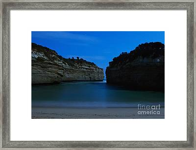 Loch Ard Gorge Under The Moonlight Framed Print by Hideaki Sakurai