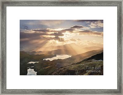 Loch Ard Sunburst 1 Framed Print by Rod McLean