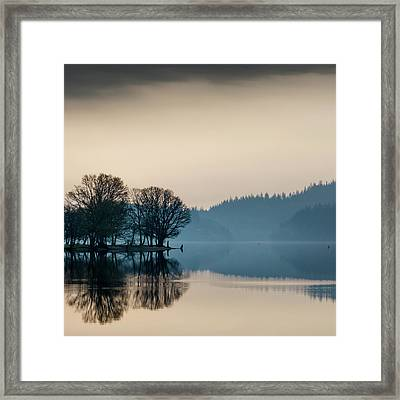 Loch Ard Reflection Framed Print by Dave Bowman