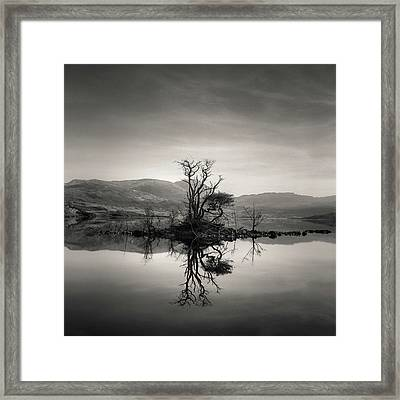 Loch Assynt Reflection Framed Print by Dave Bowman
