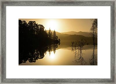 Loch At Sunset Framed Print