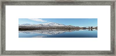 Framed Print featuring the photograph Loch Droma Panorama by Grant Glendinning