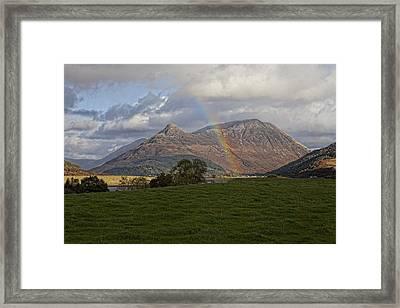 Loch Eilde Mor Rainbow Framed Print by Jim Dohms