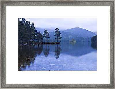 Loch Garten In The Cairngorms Scotland Framed Print by Gabor Pozsgai