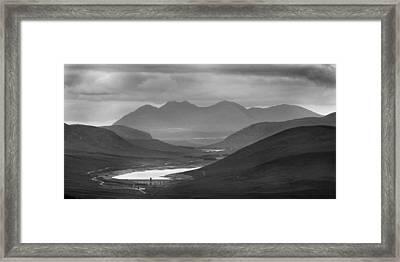 Loch Glascarnoch And An Teallach Framed Print