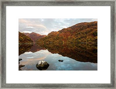 Loch Hourn Autumnal Reflections Framed Print