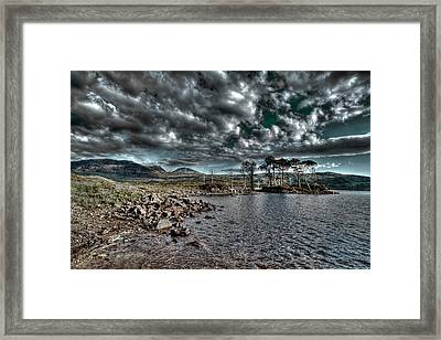 Loch In The Scottish Highland Framed Print by Gabor Pozsgai