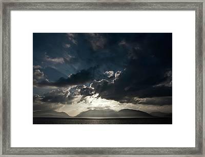 Loch Linnhe Sunset Framed Print by Mark Denham