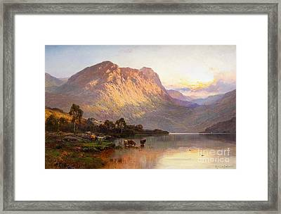 Loch Lomond And A Trout Stream Near Stirling Framed Print
