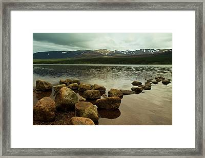 Loch Morlich And The Cairn Gorms Framed Print by Bill Buchan