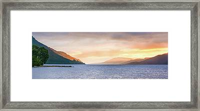 Loch Ness At Dawn Framed Print