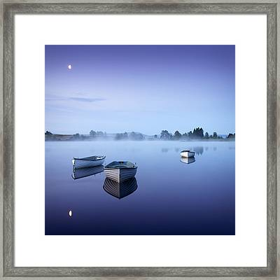 Loch Rusky Moonlit Morning Framed Print