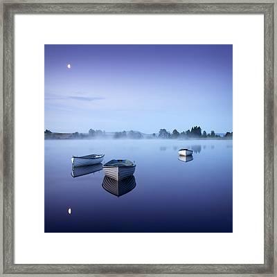 Loch Rusky Moonlit Morning Framed Print by David Mould