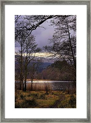 Framed Print featuring the photograph Loch Venachar by Jeremy Lavender Photography