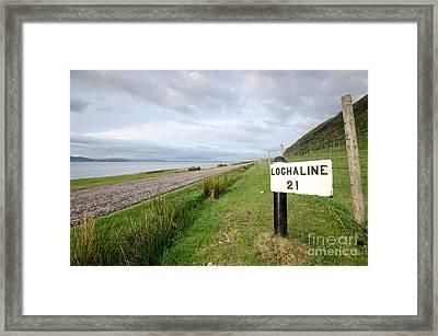 Lochaline This Way Framed Print