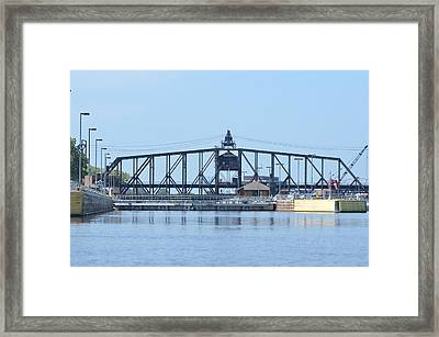 Lock And Dam No. 15 Framed Print