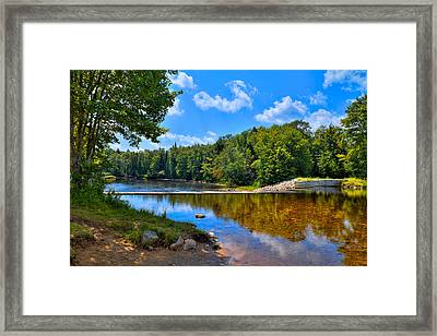 Lock And Dam On The Moose River Framed Print