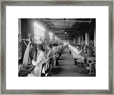 Lock And Drill Department Assembly Line Framed Print by Everett