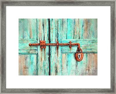 Lock And Key Framed Print