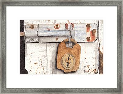 Lock And Latch Framed Print by Ken Powers