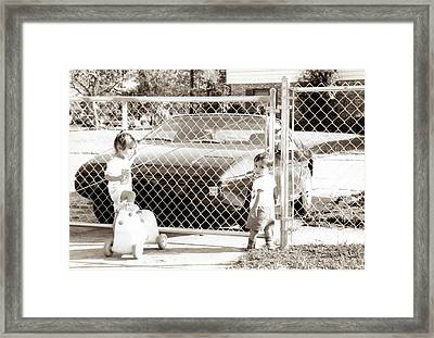 Lock Down..... Framed Print